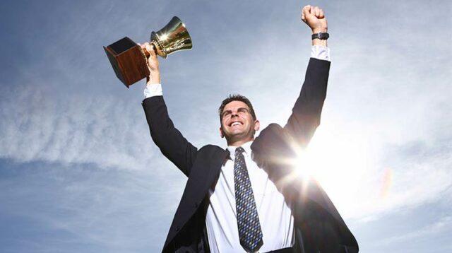 Ilustrasi Orang Sukses